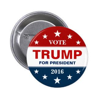 Vote Donald Trump pour le président 2016 campagne Badge