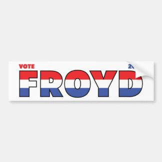 Vote Froyd 2010 élections blanc et bleu rouges Autocollant Pour Voiture