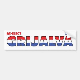 Vote Grijalva 2010 élections blanc et bleu rouges Autocollants Pour Voiture