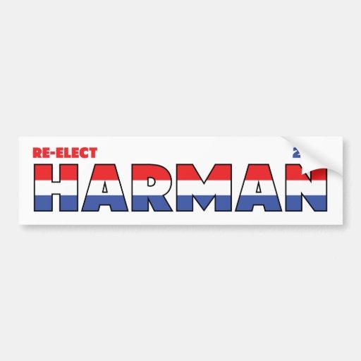 Vote Harman 2010 élections blanc et bleu rouges Autocollant Pour Voiture