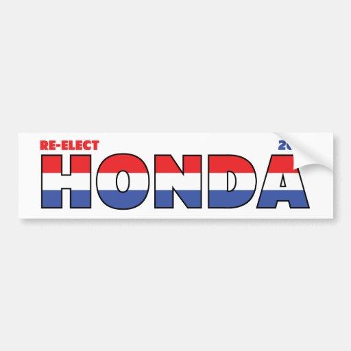 Vote Honda 2010 élections blanc et bleu rouges Adhésif Pour Voiture