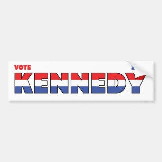 Vote Kennedy 2010 élections blanc et bleu rouges Adhésif Pour Voiture