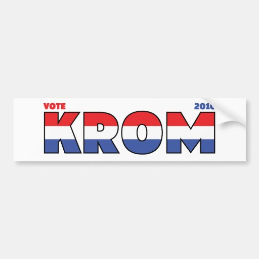 Vote Krom 2010 élections blanc et bleu rouges Autocollant Pour Voiture