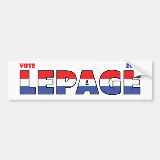 Vote LePage 2010 élections blanc et bleu rouges Autocollant Pour Voiture