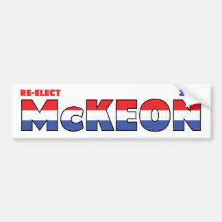 Vote McKeon 2010 élections blanc et bleu rouges Adhésifs Pour Voiture
