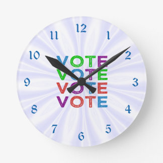 VOTE multicolore Horloge Ronde