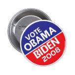 Vote Obama et Biden en 2008 Badges Avec Agrafe