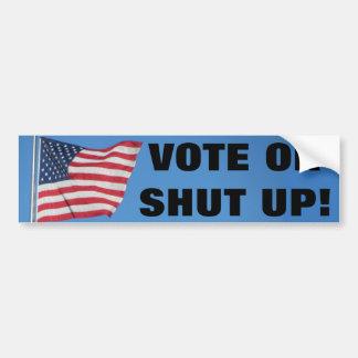 Vote ou fermé avec le drapeau des Etats-Unis Autocollant De Voiture