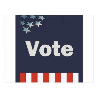 Vote patriotique carte postale