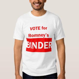 Vote pour le classeur de Romney T-shirts