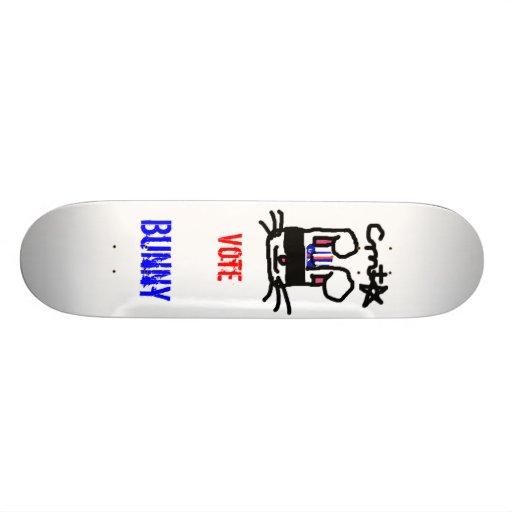 Vote pour le lapin plateau de skateboard