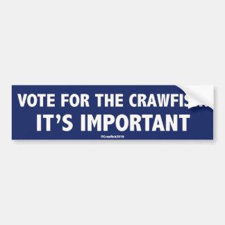 Vote pour les écrevisses : C'est important ! Stic Autocollant Pour Voiture