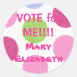 VOTE pour MOI autocollant d'élection