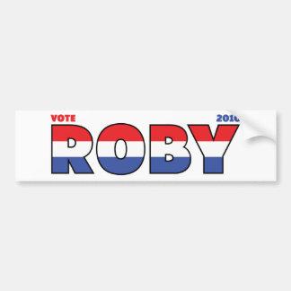 Vote Roby 2010 élections blanc et bleu rouges Adhésif Pour Voiture