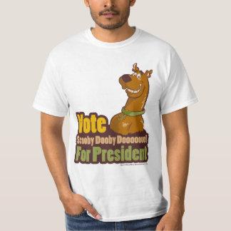 Vote Scooby Dooby Doo pour le président T-shirt