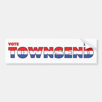 Vote Townsend 2010 élections blanc et bleu rouges Adhésif Pour Voiture