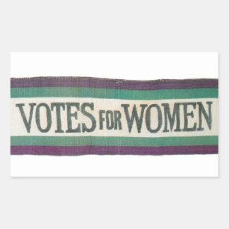 Votes de suffragette pour l'autocollant de femmes sticker rectangulaire