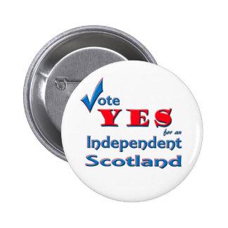 Votez OUI pour un insigne indépendant de goupille  Badge