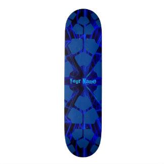 Votre bleu moderne nommé plateaux de skateboards customisés
