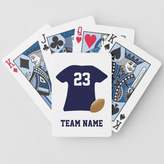 Votre chemise du football avec des cartes de jeu jeu de cartes