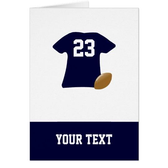 Votre chemise du football avec la carte