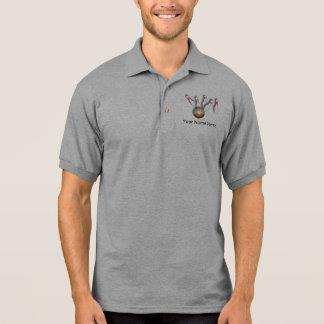 Votre chemise ici de roulement de nom polo