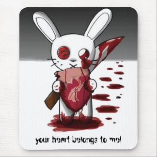 votre coeur appartient à moi ! tapis de souris