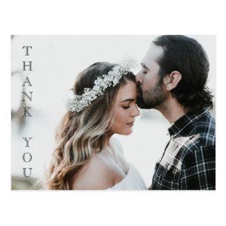 Votre de photo carte de remerciements de mariage