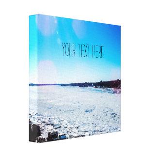 Votre des textes grande rivière congelée ici   toile