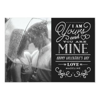 Vôtre et les miens carte de Saint-Valentin - noir Carton D'invitation 12,7 Cm X 17,78 Cm
