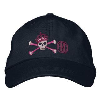 Votre gardez le monogramme calme de crâne d'os casquette brodée