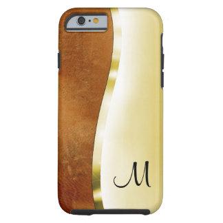 Votre initiale sur ces beaux or et cuir coque tough iPhone 6