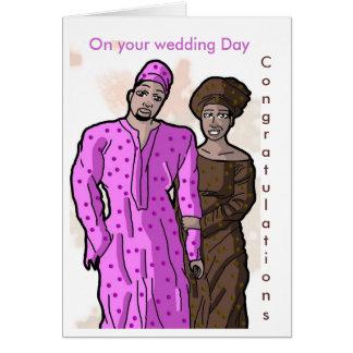 Votre jour du mariage, félicitations carte de vœux