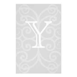 Votre lettre. Monogramme de remous de gris et de b Prospectus