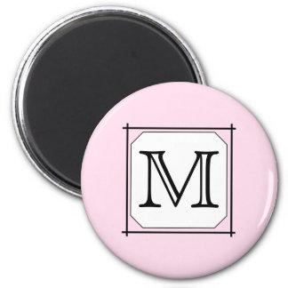 Votre lettre Monogramme fait sur commande Blanc Magnets Pour Réfrigérateur