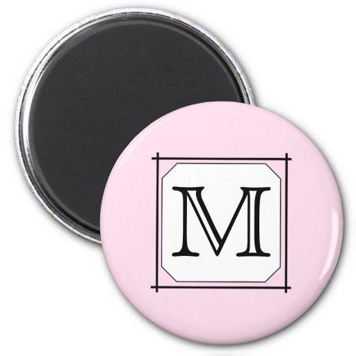 Votre lettre. Monogramme fait sur commande. Blanc  Magnets Pour Réfrigérateur