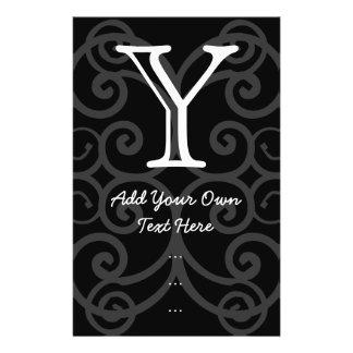 Votre lettre. Monogramme noir/blanc de remous. Cou Prospectus 14 Cm X 21,6 Cm