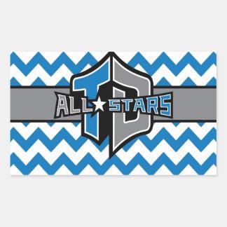 Votre logo d'équipe sticker rectangulaire