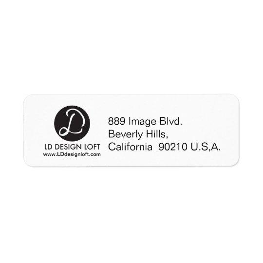 Votre logo ici, simple, personnalisable étiquette d'adresse retour