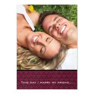 Votre mariage de photo m'invitent marient ma carton d'invitation  12,7 cm x 17,78 cm