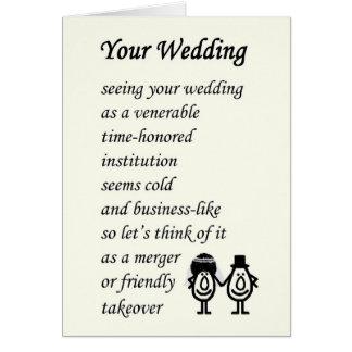 votre mariage un pome drle de mariage carte - Texte Flicitation Mariage Original