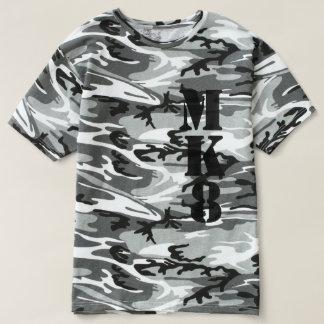 Votre monogramme de 3 lettres sur le décor de t-shirt