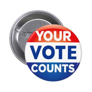 Votre motif de comptes de vote badge