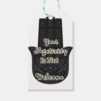"""""""Votre négativité n'est pas"""" conception voulue de Étiquettes-cadeau"""