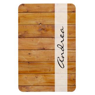 Votre nom - mur de grange, écorces en bois, magnet flexible