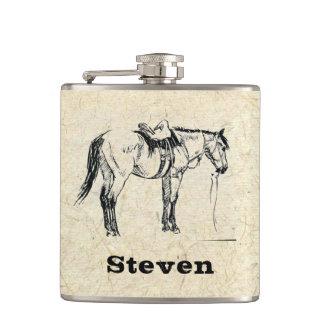 Votre nom sur ce flacon sellé de cheval