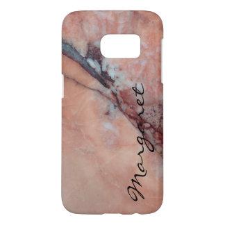 Votre nom sur le marbre rose défectueux coque samsung galaxy s7