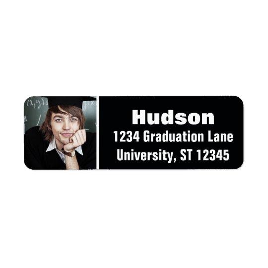 Votre obtention du diplôme ici personnalisée de étiquette d'adresse retour