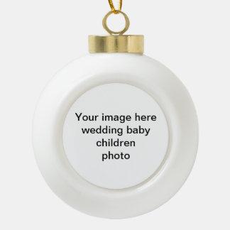 Votre ornement d'arbre de Noël de photo