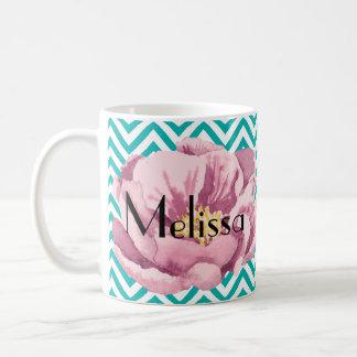Votre pavot rose nommé mug